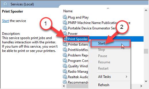 Start Print Min
