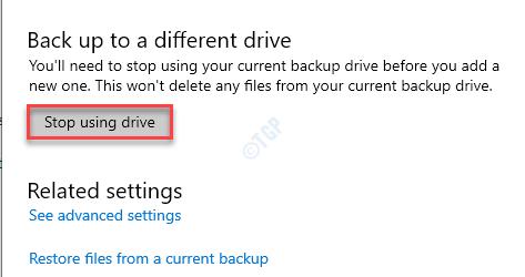 Stop Using Drive Min