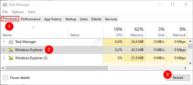 Task Manager Restrat File Explorer
