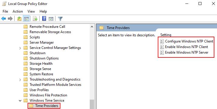 Time Providers Gepedit