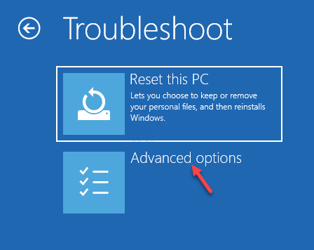 Troubleshoot Reset This Pc Advanced Options Startup Repair