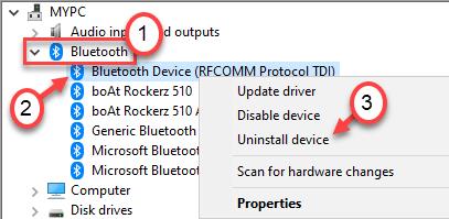Uninstall Bluetooth General Min