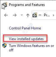 View Installed Update Min Min