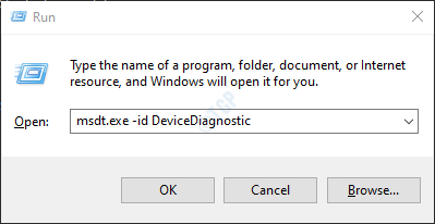 msdt device diagnostic