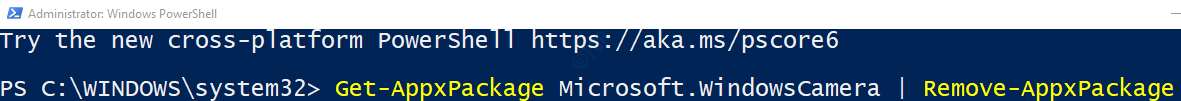 uninstall in powershell