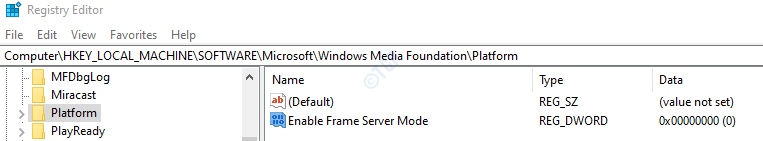 Enable Frame Server Mode