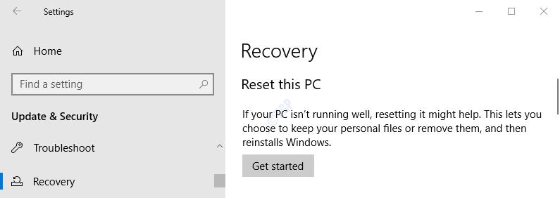 Rsest this PC