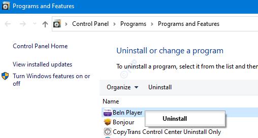 Uninstall a Program