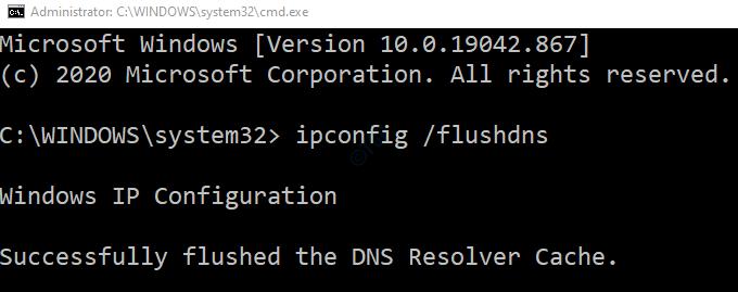 ipconfig flush dns