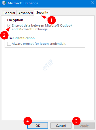 encrypt data settings