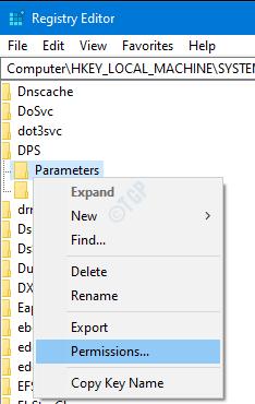 Parameters rightclick