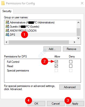 DPS Full permissions