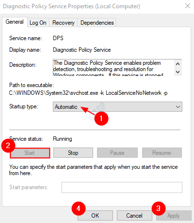 DPS Service settings