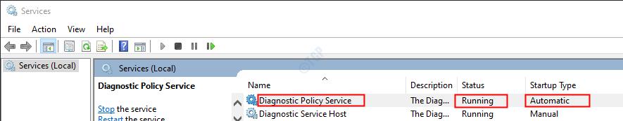 DPS service status