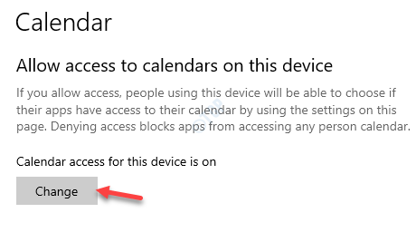 Allow Access To Calendars On This Device Change