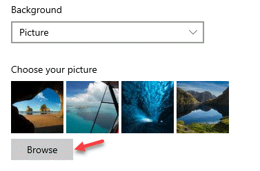 Background Picture Choose Your Picture Browse
