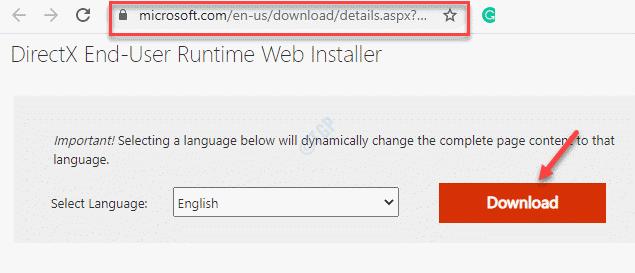 Browser Visit Directx Link Download