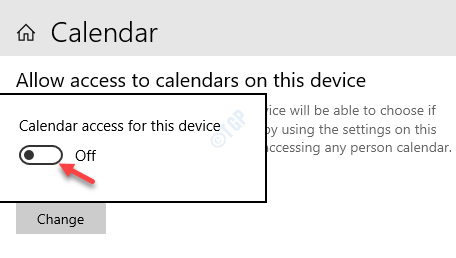 Calendar Access For This Device Turn Off