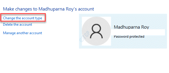 Change An Account Change The Account Type