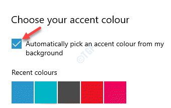 Choose Your Accent Colour Automatically Pick An Accent Colour From My Background