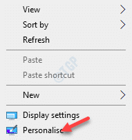 Desktop Right Click Personalise