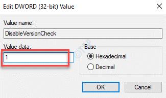Disableversioncheck Edit Dword Value Value Data 1 Ok
