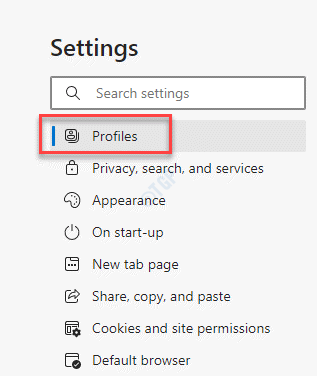 Edge Settings Profiles