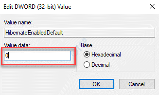 Edit Dword (32 Bit) Value Value Data 0 Ok