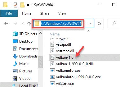 File Explorer Navigate To Syswow64 Paste Vulkan 1.dl File