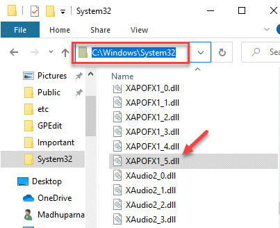 File Explorer Navigate To System32 Folder Paste The Xapofx1 5.dll File