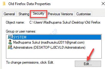 Folder Properties Security Edit