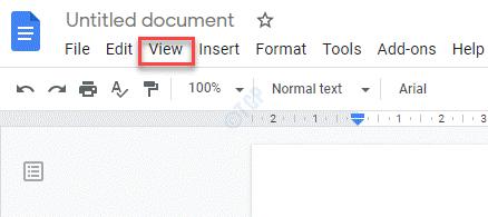 Google Docs View Tab