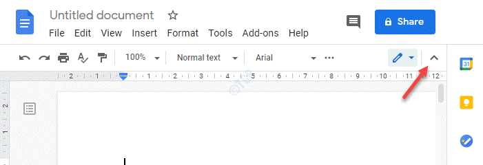 Google Docs Upper Right Hand Side Up Arrow Sign