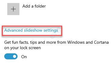 Lock Screen Background Advanced Slideshow Settings