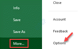 Ms Excel File More Options