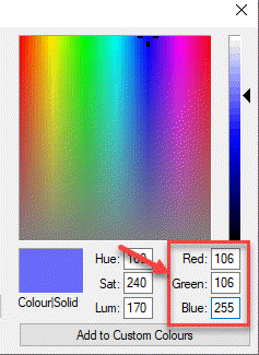 Ms Paint Edit Colours Note Down Red, Green And Blue Values