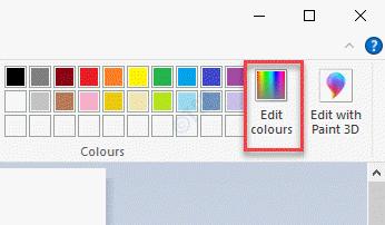 Ms Paint Edit Colours