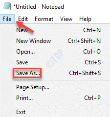 Notepad File Tab Save As