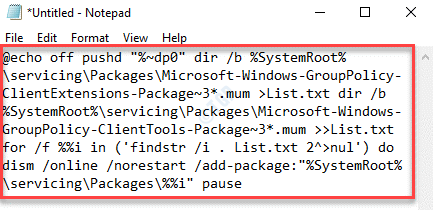 Notepad Paste Text