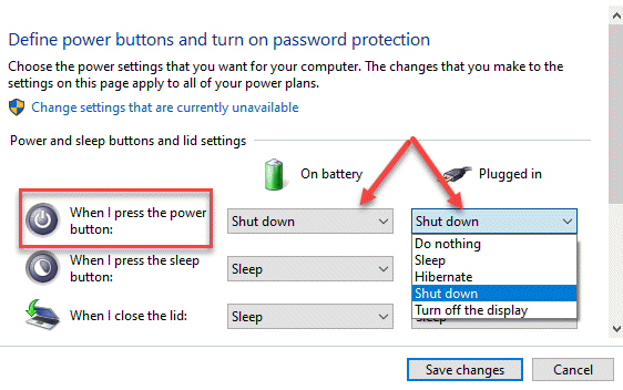 Power And Sleep Buttons And Lid Settings When I Press The Power Button On Battery Plugged In Shut Down