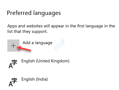 Preferred Languages Add A Language