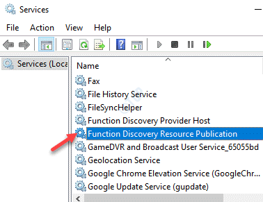 Services Function Discovery Resource Publication Double Click