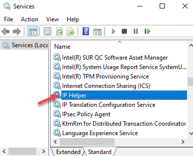 Services Name Ip Helper Double Click