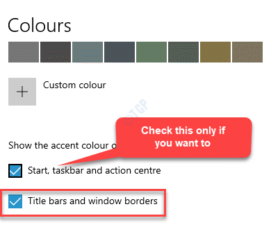 Settings Colours Title Bars And Window Borders Check