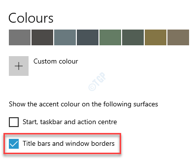Settings Colours Title Bars And Window Borders Make Sure Its Enabled
