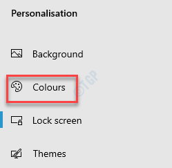 Settings Personalisation Colours