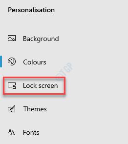 Settings Personalisation Lock Screen