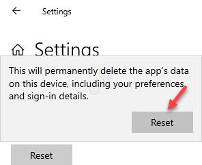 Settings Reset Reset Prompt Press Reset Again