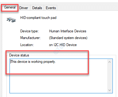 Wacom Tablet Device Properties General Device Status