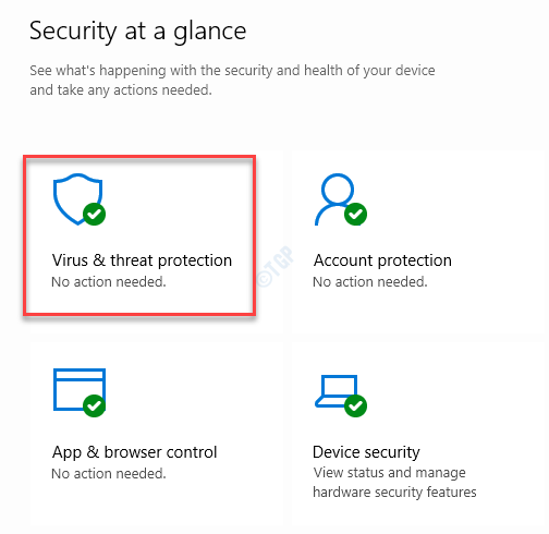 Windows Security Home Right Side Virus & Threat Protection